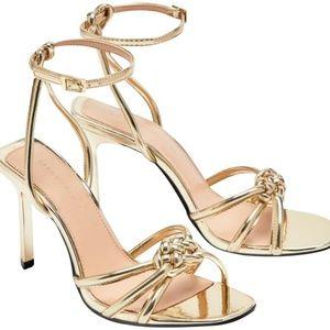 Zara Gold Braided Heel
